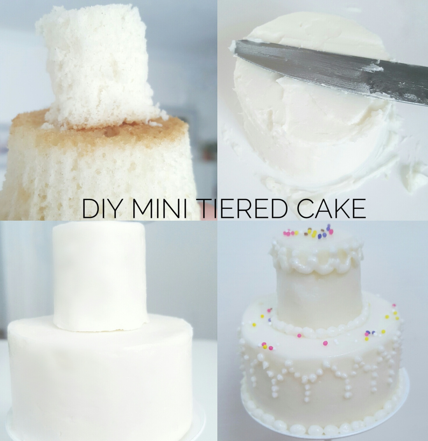 DIY Mini Tiered Cake | Angel is Inspired