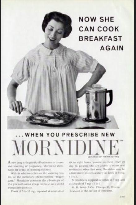 Mornidine Ad Preg 1950s (Searle)